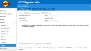 Update für FRITZ!Repeater 3000 (Foto: SmartPhoneFan.de)