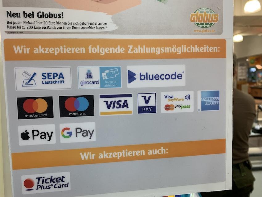 Globus wirbt für mobiles Bezahlen (Foto: SmartPhoneFan.de)