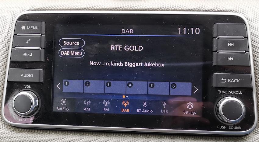 RTÉ Gold im Mietwagen auf DAB (Foto: SmartPhoneFan.de)