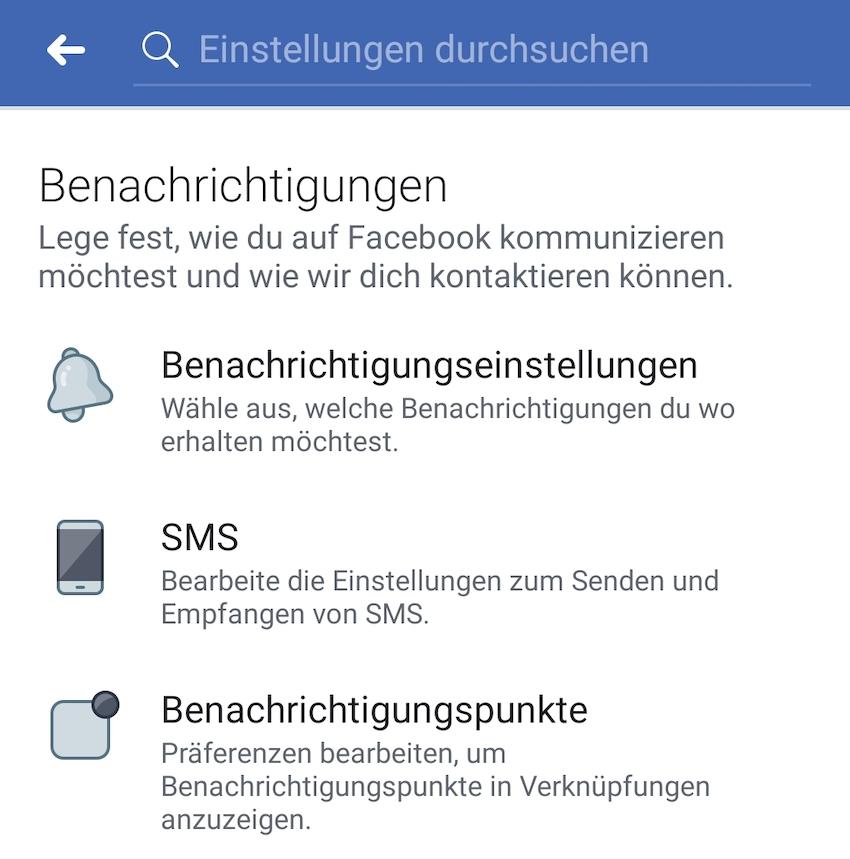 Facebook-App ignoriert hier vorgenommene Einstellungen (Foto: SmartPhoneFan.de)