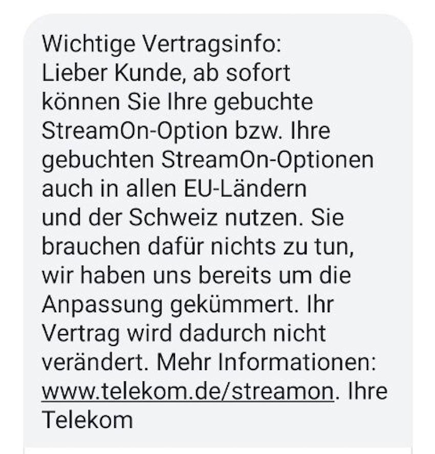 StreamOn im EU-Roaming (Foto: SmartPhoneFan.de)