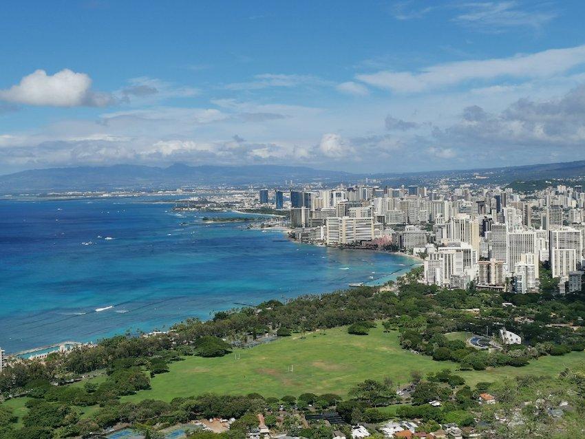 Blick vom Diamond Head auf Honolulu (Foto: SmartPhoneFan.de)