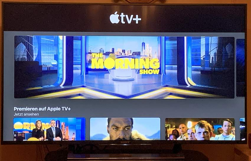 Apple TV+ auf dem Sony Smart-TV (Foto: SmartPhoneFan.de)