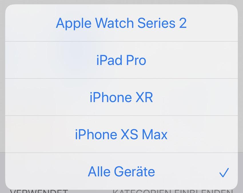 Apple Watch Series 3 fehlt bei der Bildschirmzeit (Foto: SmartPhoneFan.de)