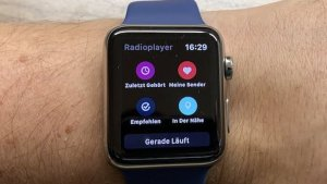 Radioplayer auf der Apple Watch (Foto: SmartPhoneFan.de)