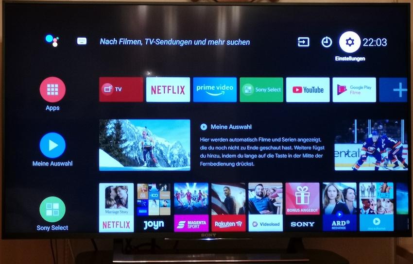 Neue Smart-TV-Benutzeroberfläche (Foto: SmartPhoneFan.de)
