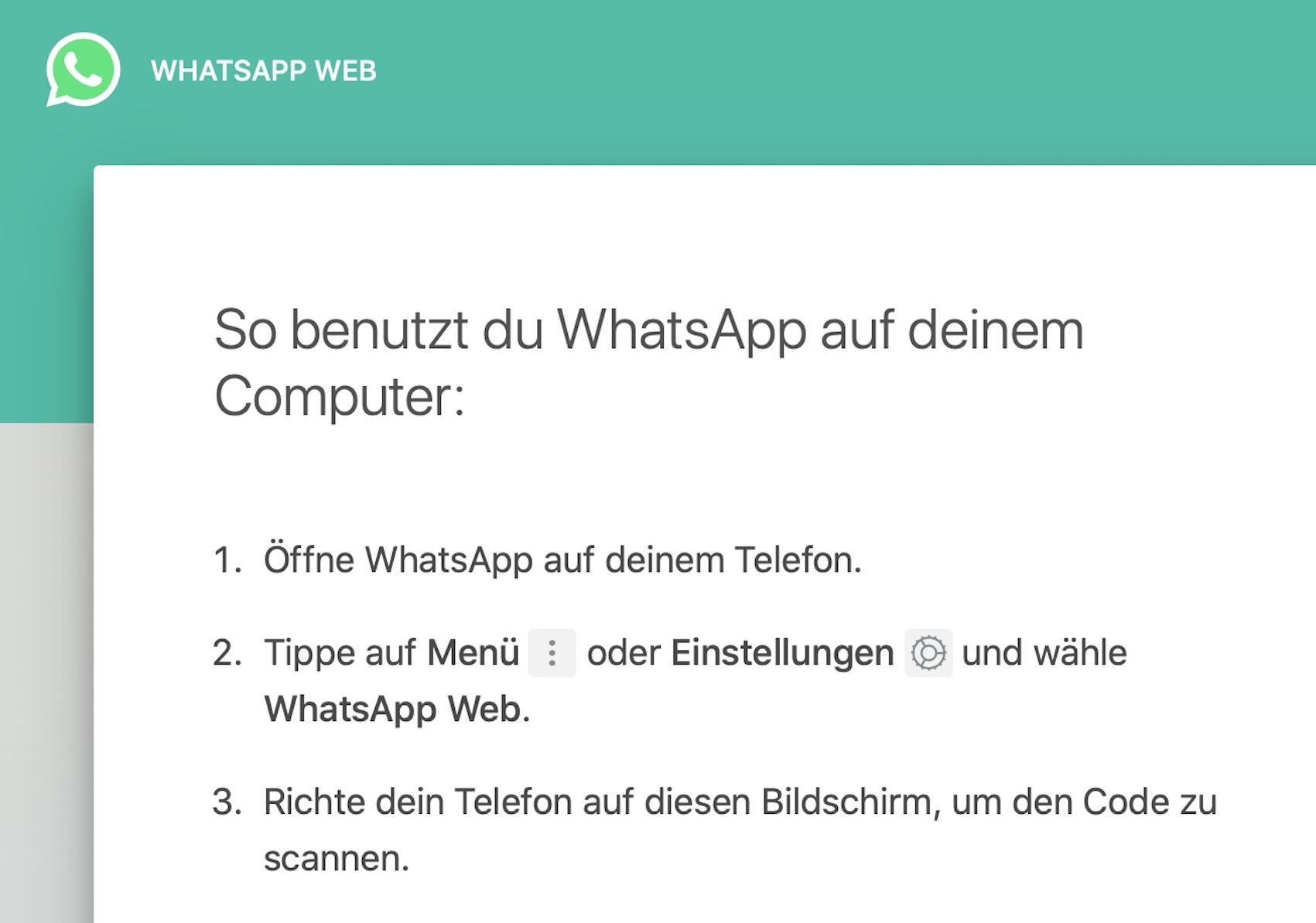 Wichtige Neuerung bei WhatsApp Web (Foto: SmartPhoneFan.de)