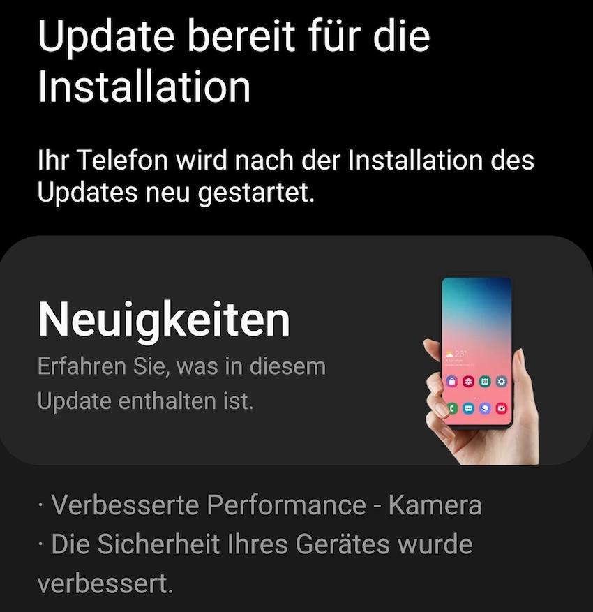 Update fürs Galaxy S20 Ultra (Foto: SmartPhoneFan.de)