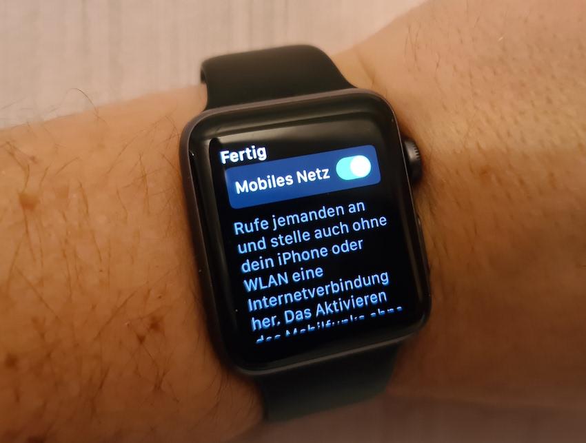 eSIM der Apple Watch reaktiviert (Foto: SmartPhoneFan.de)