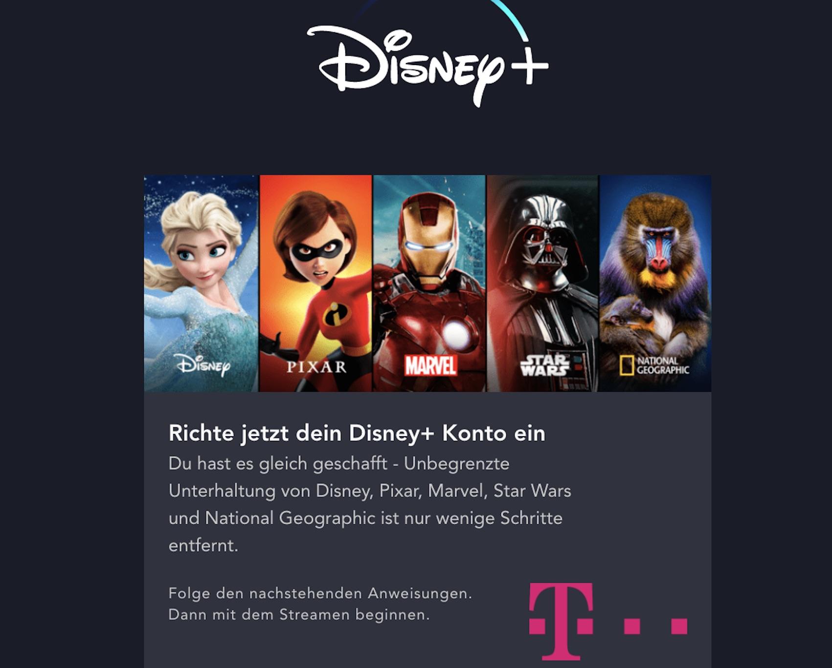 Disney+-Option von der Telekom (Foto: SmartPhoneFan.de)