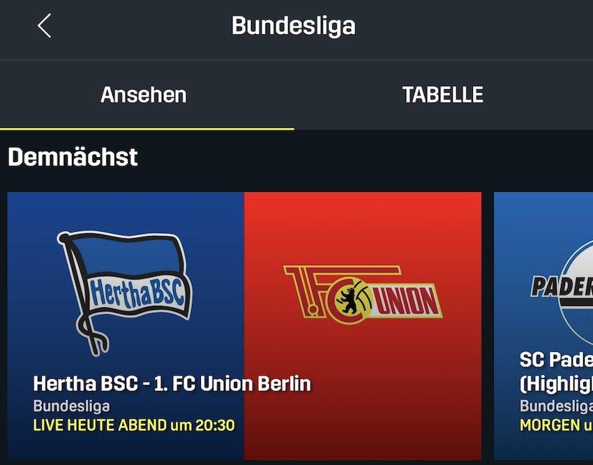 Bundesliga bei DAZN (Foto: SmartPhoneFan.de)