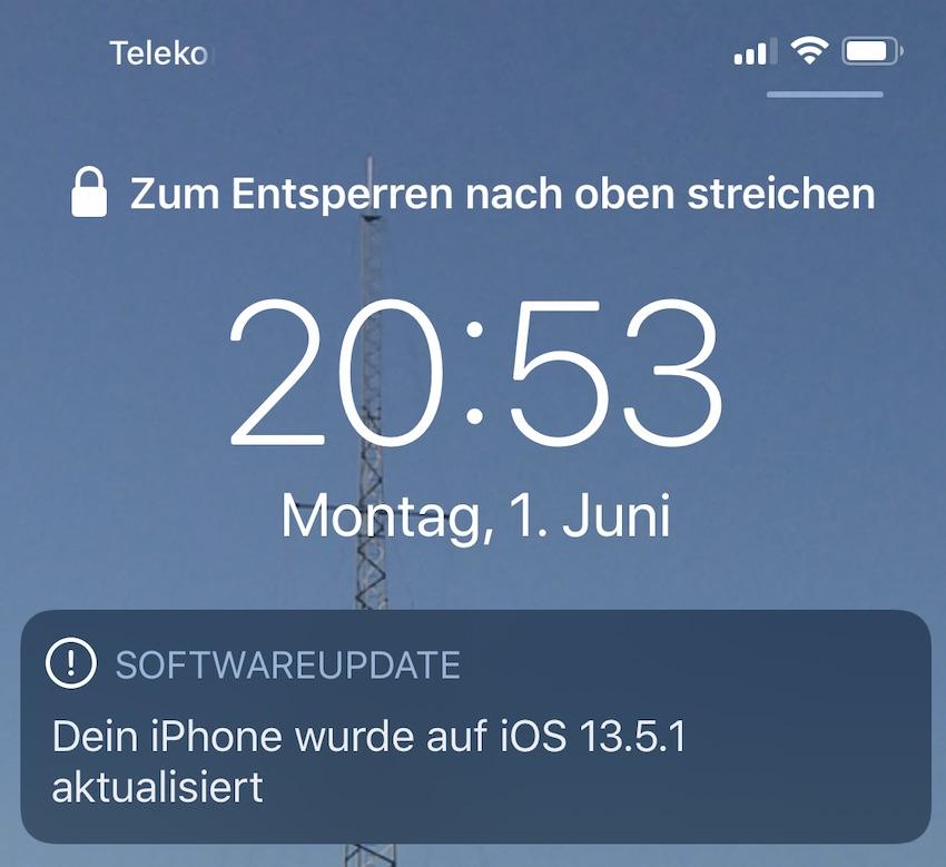 iOS 13.5.1 installiert (Foto: SmartPhoneFan.de)