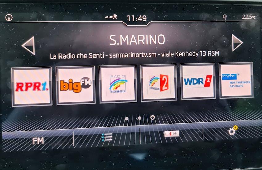Radio-San-Marino-Empfang auf Rügen (Foto: SmartPhoneFan.de)
