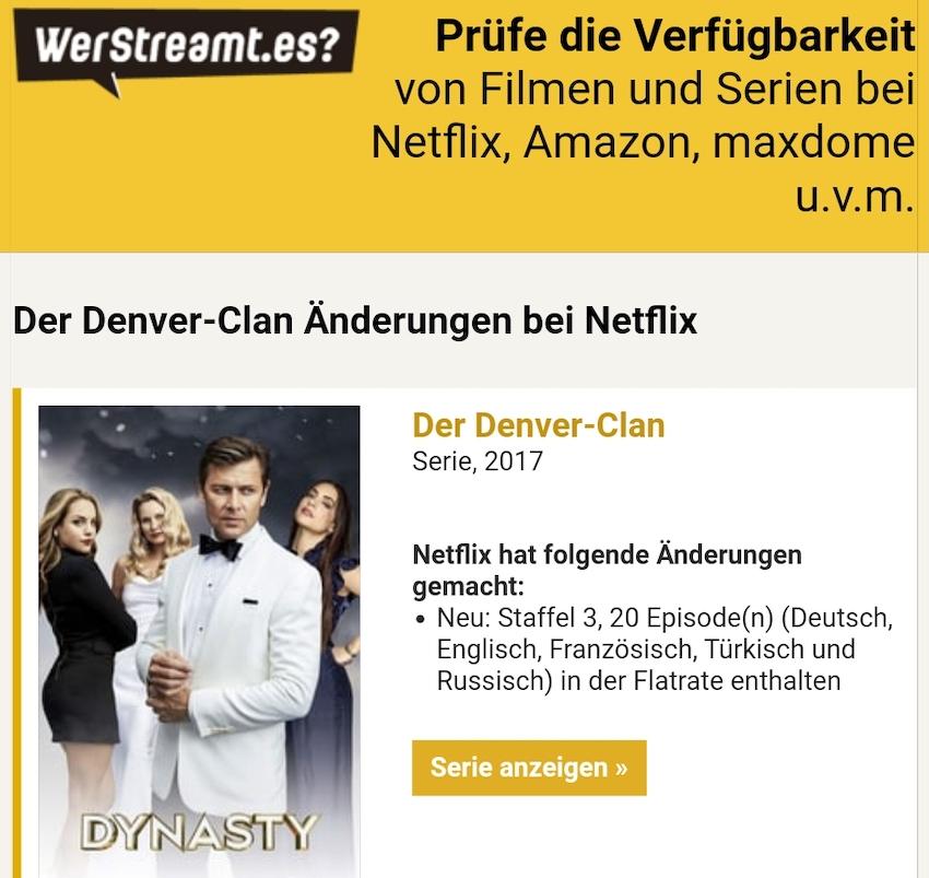 Info zu neuen Serien-Staffeln (Foto: SmartPhoneFan.de)