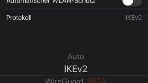 Protokoll manuell festlegen (Screenshot: SmartPhoneFan.de)