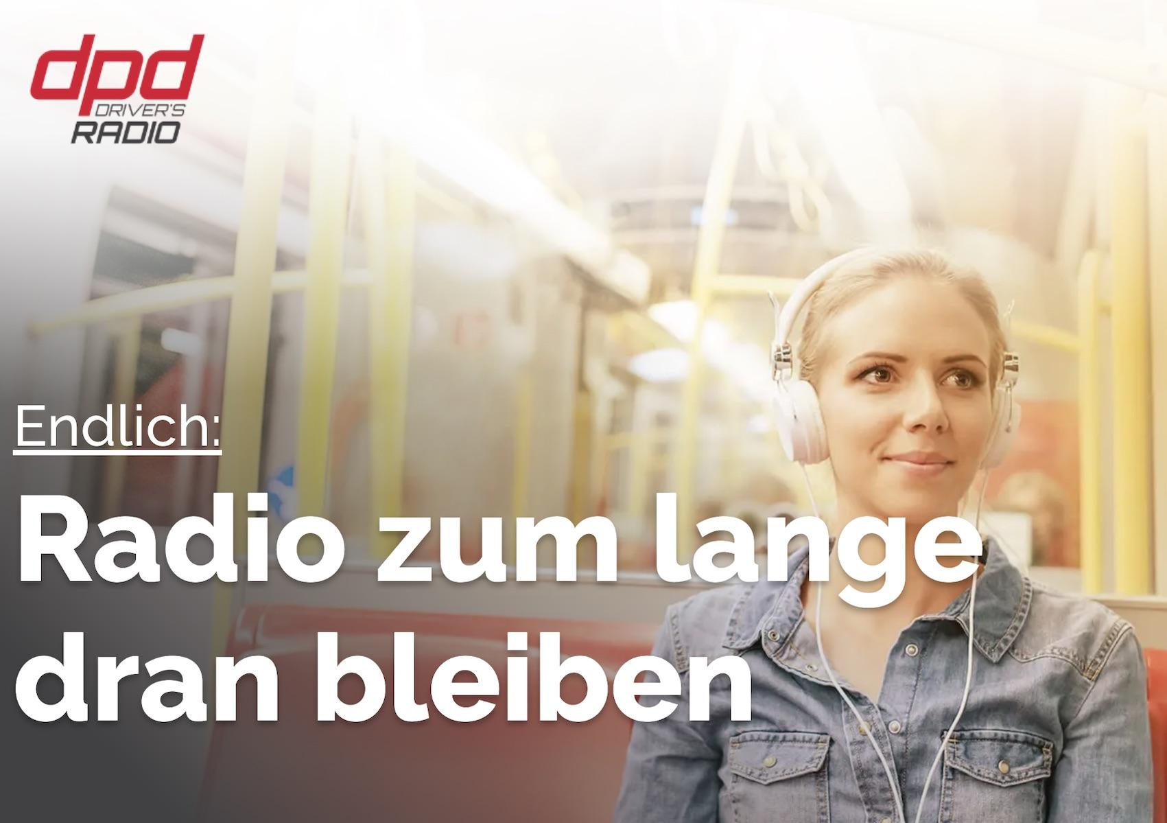 dpd Driver's Radio startet (Quelle: dpd-driversradio.de, Screenshot: SmartPhoneFan.de)