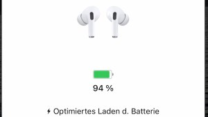 AirPods optimiert aufladen (Screenshot: SmartPhoneFan.de)