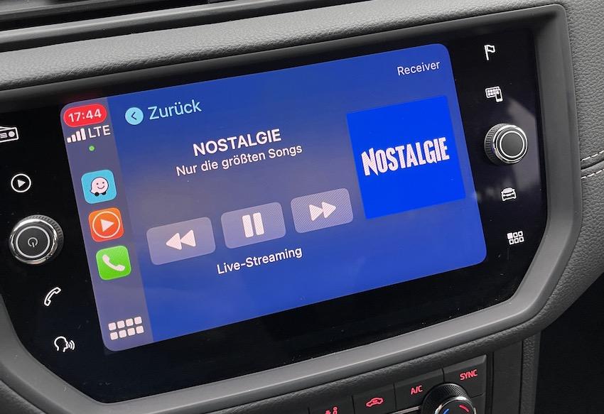 Nostalgie-Empfang über Apple CarPlay auf Fuerteventura (Foto: SmartPhoneFan.de)