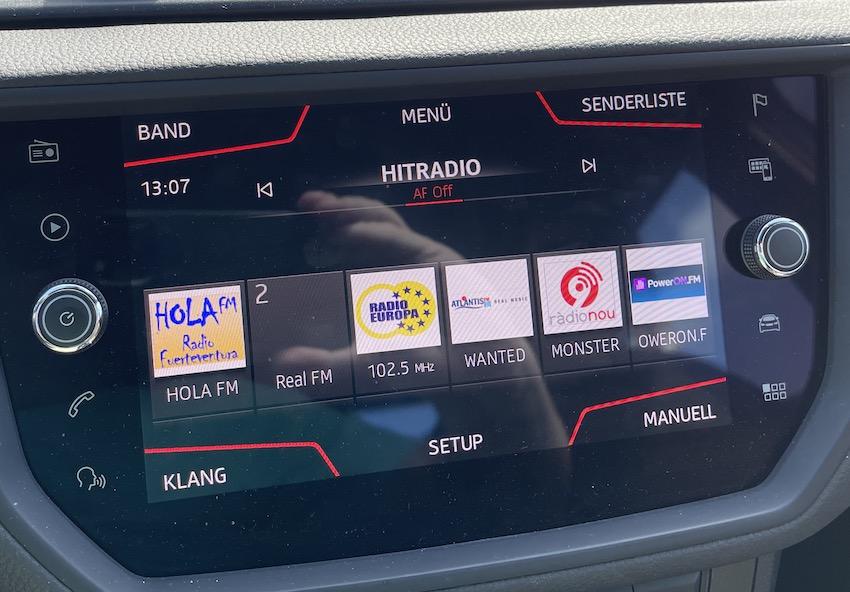 Empfang von Hit Radio aus Marokko am Faro de La Entallada (Foto: SmartPhoneFan.de)