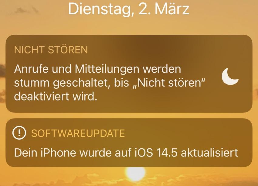iOS 14.5 Beta 3 installiert (Foto: SmartPhoneFan.de)