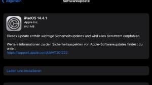iPadOS 14.4.1 installiert (Screenshot: SmartPhoneFan.de)