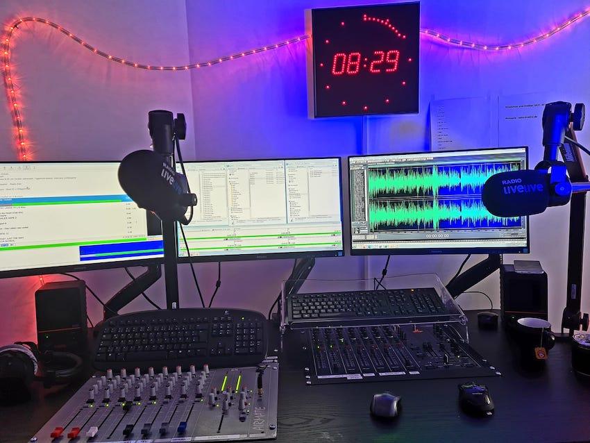 Studio von Radio livelive (Foto: Radio livelive)