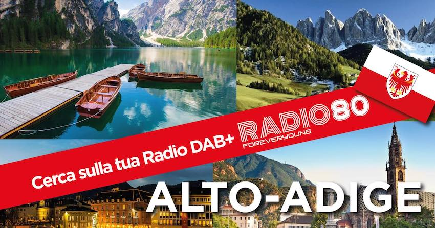 Radio 80 Forever Young bewirbt DAB+-Start in Südtirol (Foto: Radio 80 Forever Young)