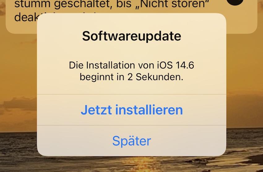 iOS 14.6 installiert (Foto: SmartPhoneFan.de)