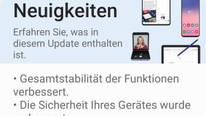 August-Update für das Galaxy S20 Ultra (Screenshot: SmartPhoneFan.de)