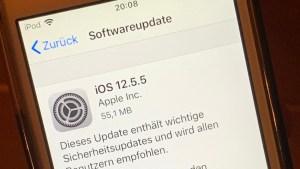 iOS 12.5.5 installiert (Foto: SmartPhoneFan.de)