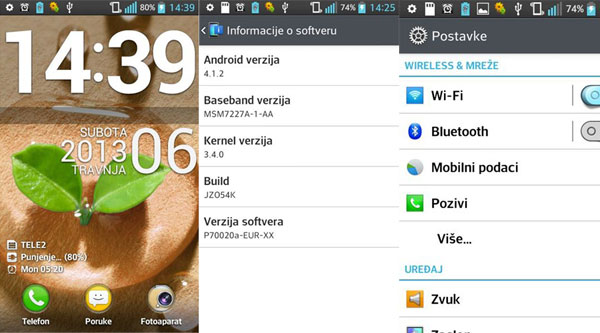 LG Optimus L7 Jelly Bean