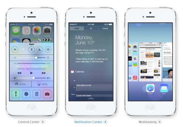 iOS 7 novosti