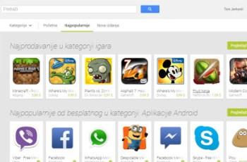 Google Play Trgovina web