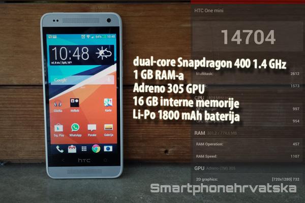 HTC One mini recenzija performanse