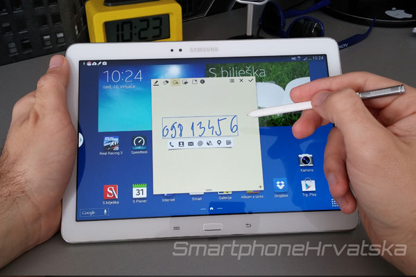 Samsung Galaxy Note 10.1 2014 recenzija S Pen
