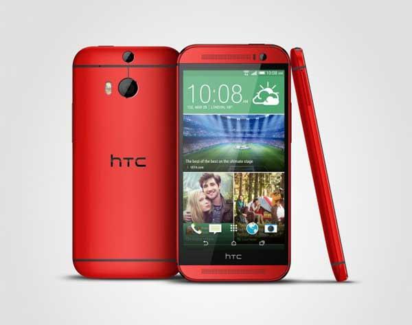 HTC One M8 crveni
