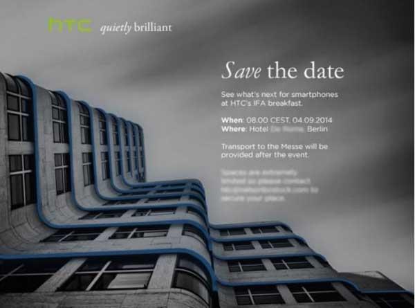 HTC IFA 2014 pozivnica