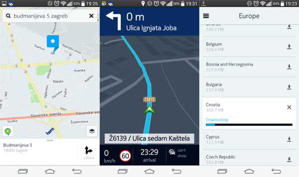 Nokie Here Karte za Android