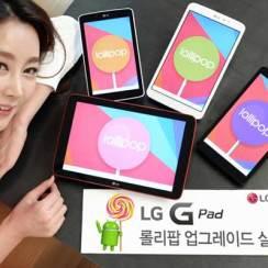 LG u opticaj pušta Lollipop za svoje tablete