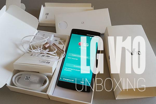 lg v10 unboxing