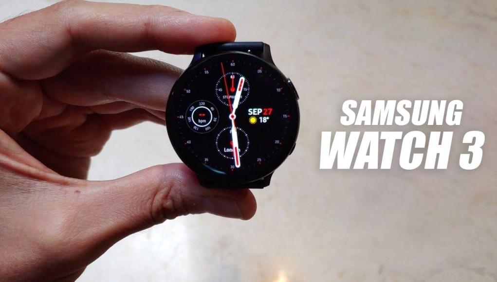 Galaxy Watch 3 na videu