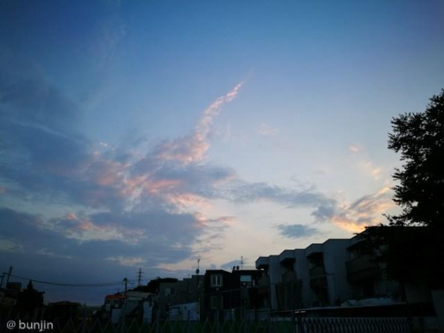最高気温38℃の夕焼け