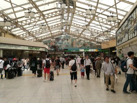 連休中の上野駅