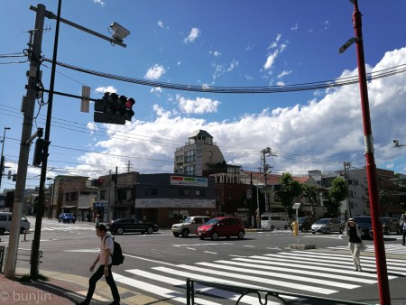 An intersection in summer