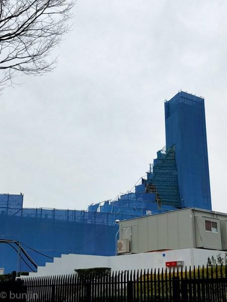Yoyogi 1st Gymnasium is under construction