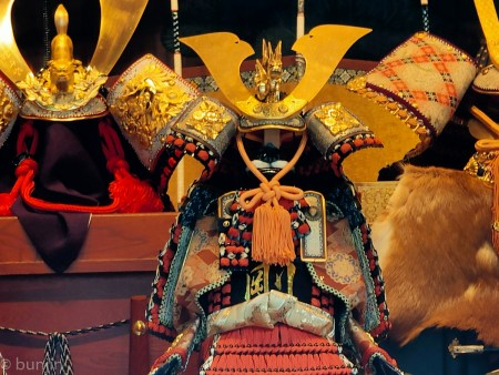 Japanese traditional armor and helmet