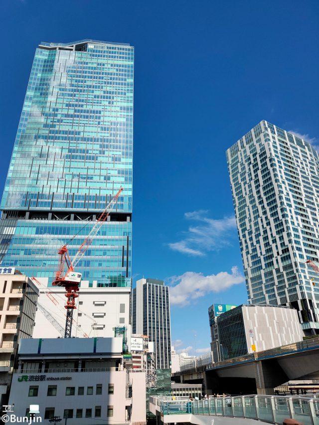Blue sky on the buildings