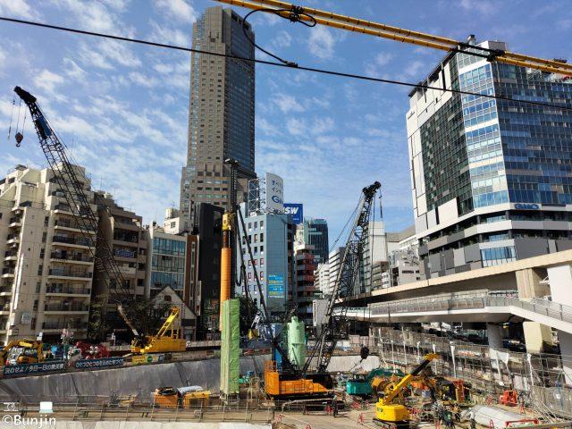 A construction site at SHIBUYA