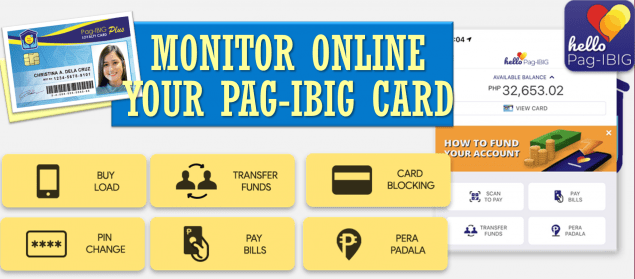 Online Virtual PagIBIG and Hello, Pag-IBIG Mobile App