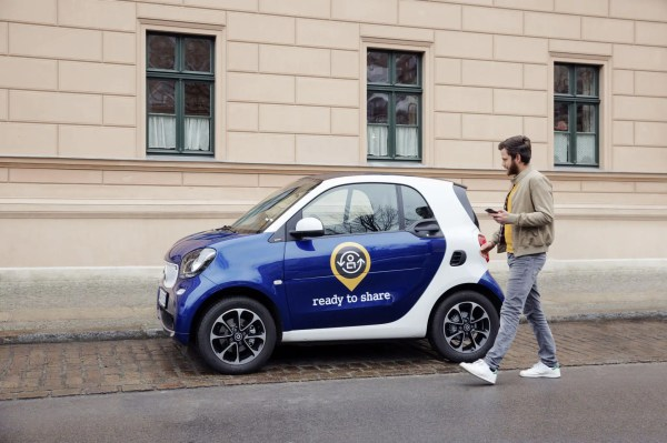 smart startet privates Carsharing